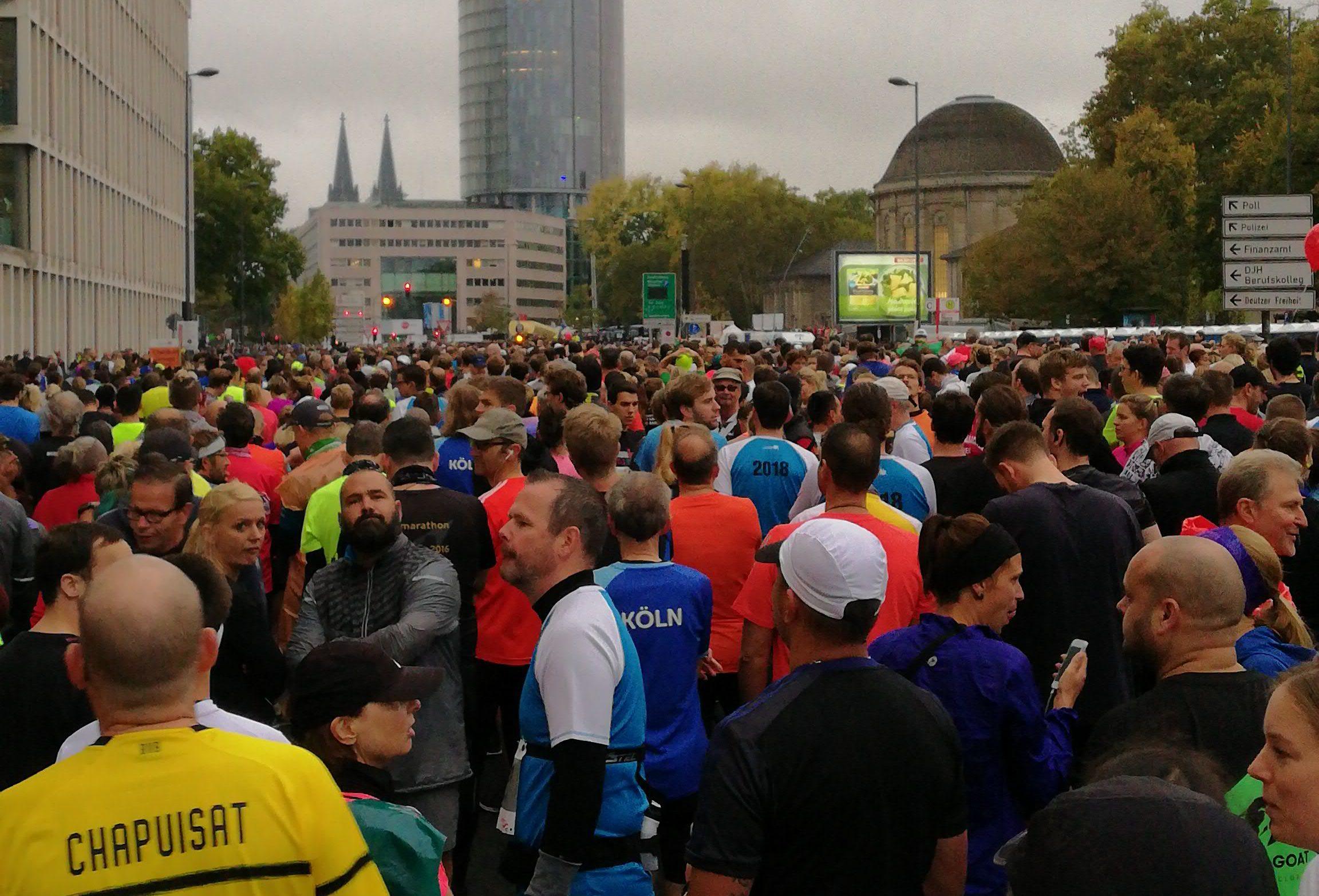Start Halbmarathon Köln 2018